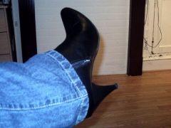 Evans black ankle boots