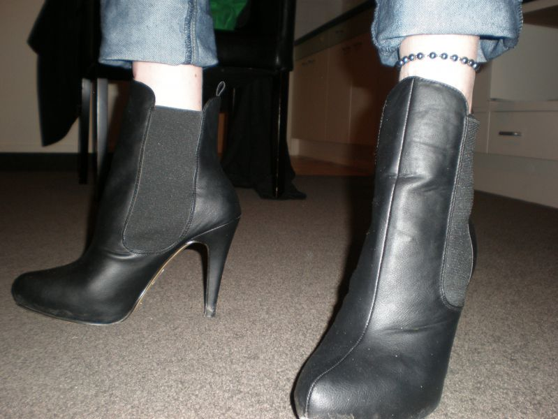 "P71new 5"" stiletto heeled boots"