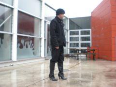 heeled calf lenght boots