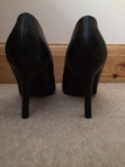 Aldo black stiletto courts back view